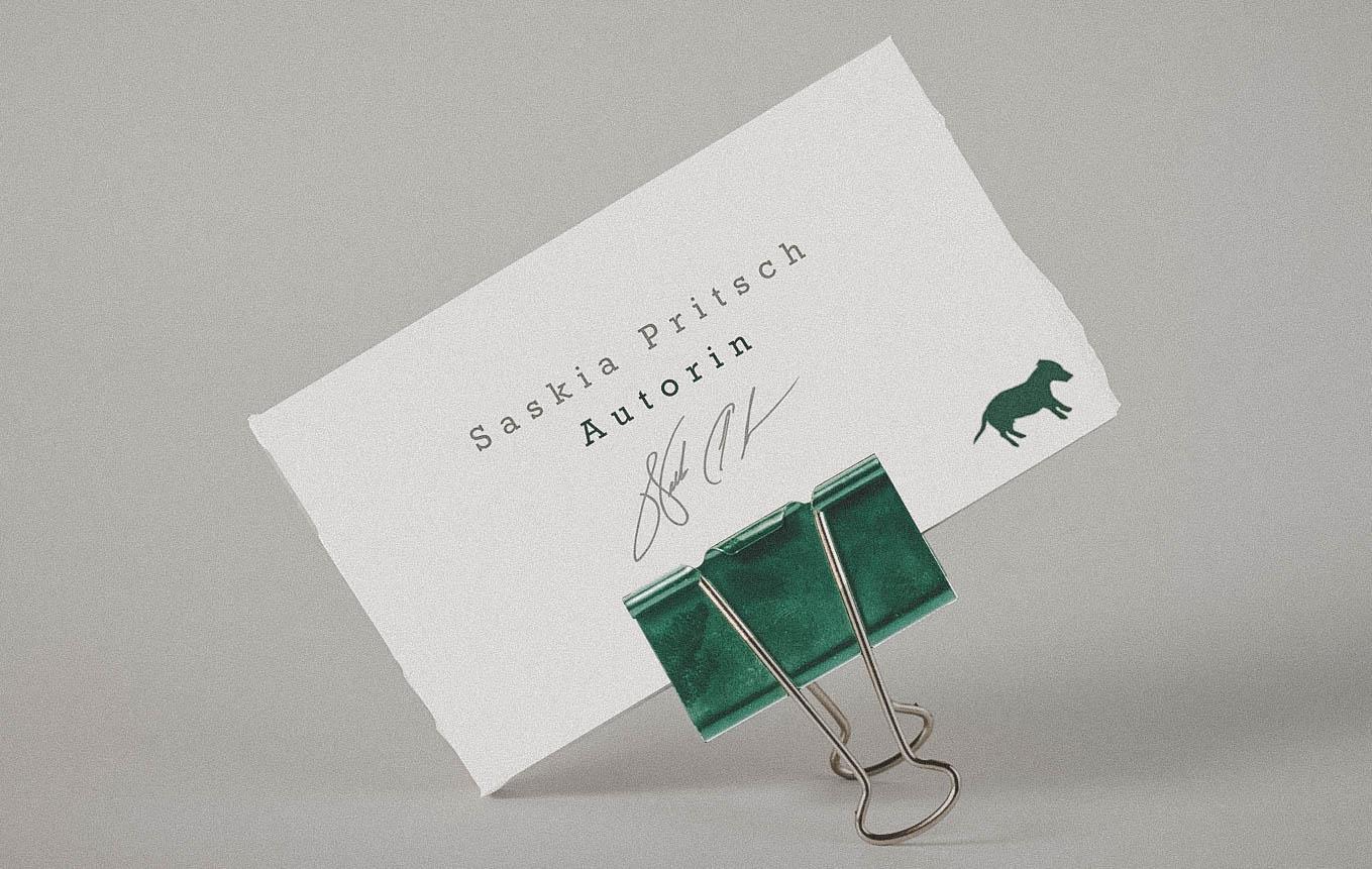 Visitenkarte Design für Schweizer Verlag und Autorin