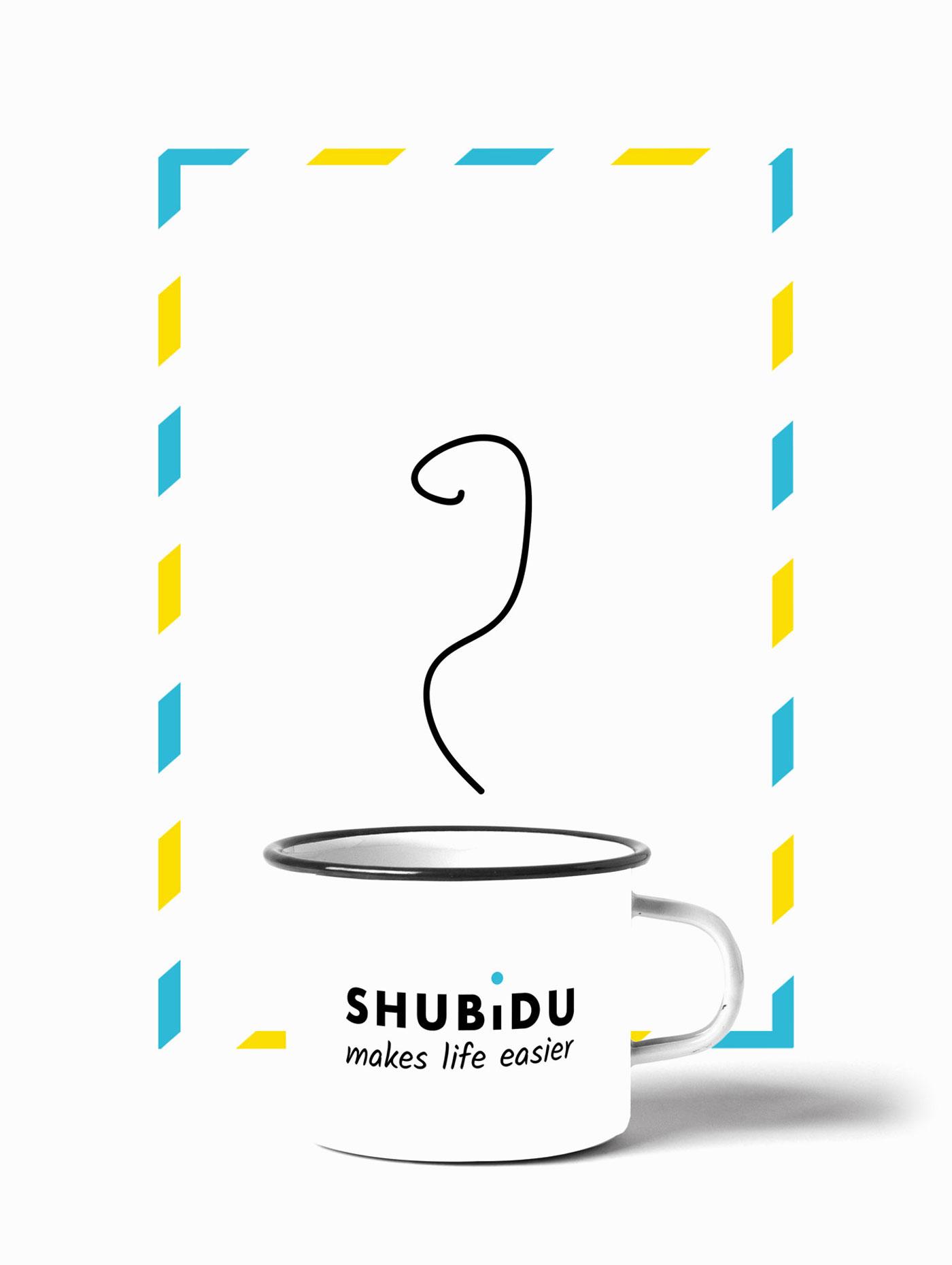 Logodesign von Schweizer App auf Tasse gedruckt