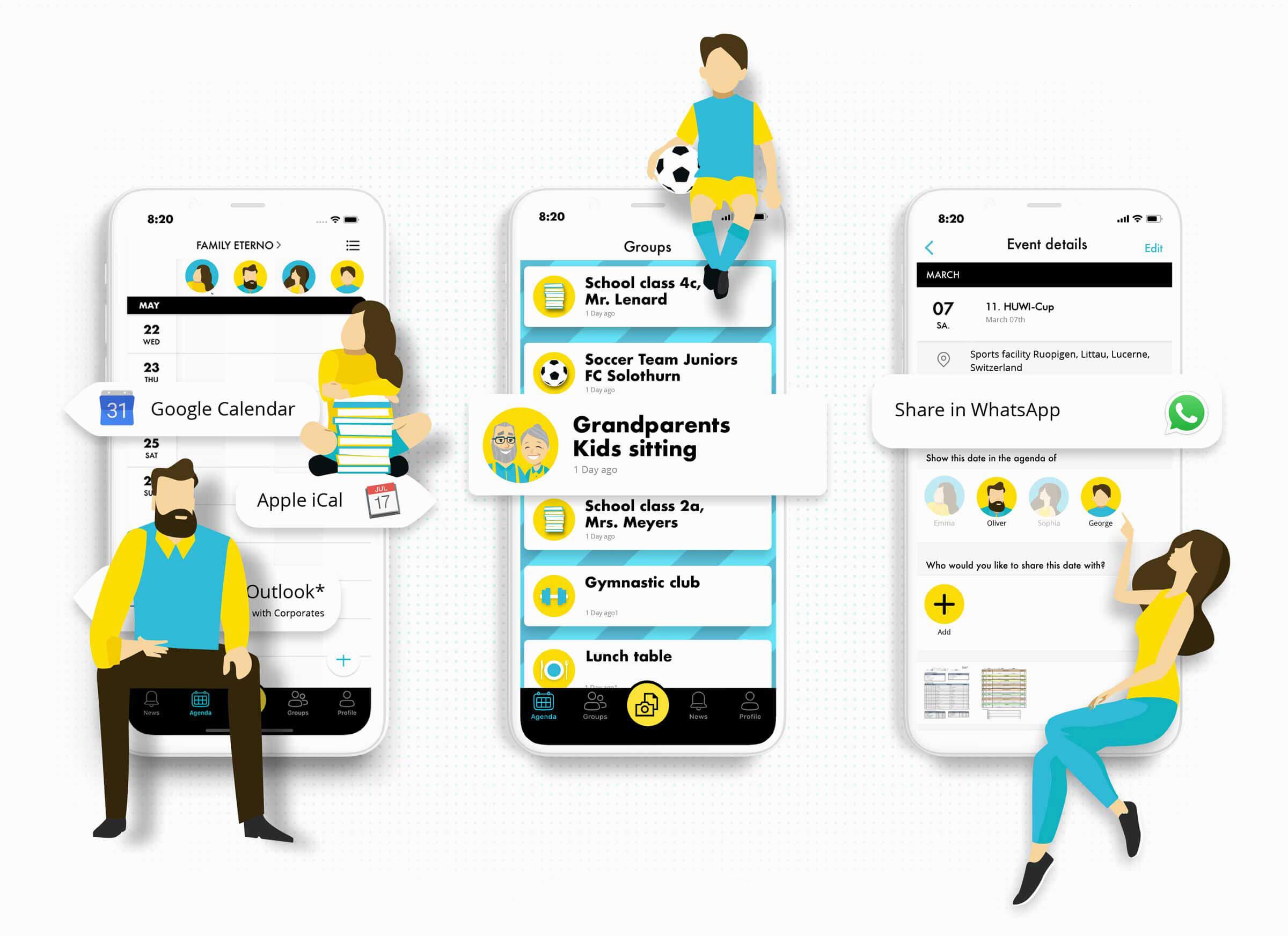 UI Design und Illustrationen für Schweizer App