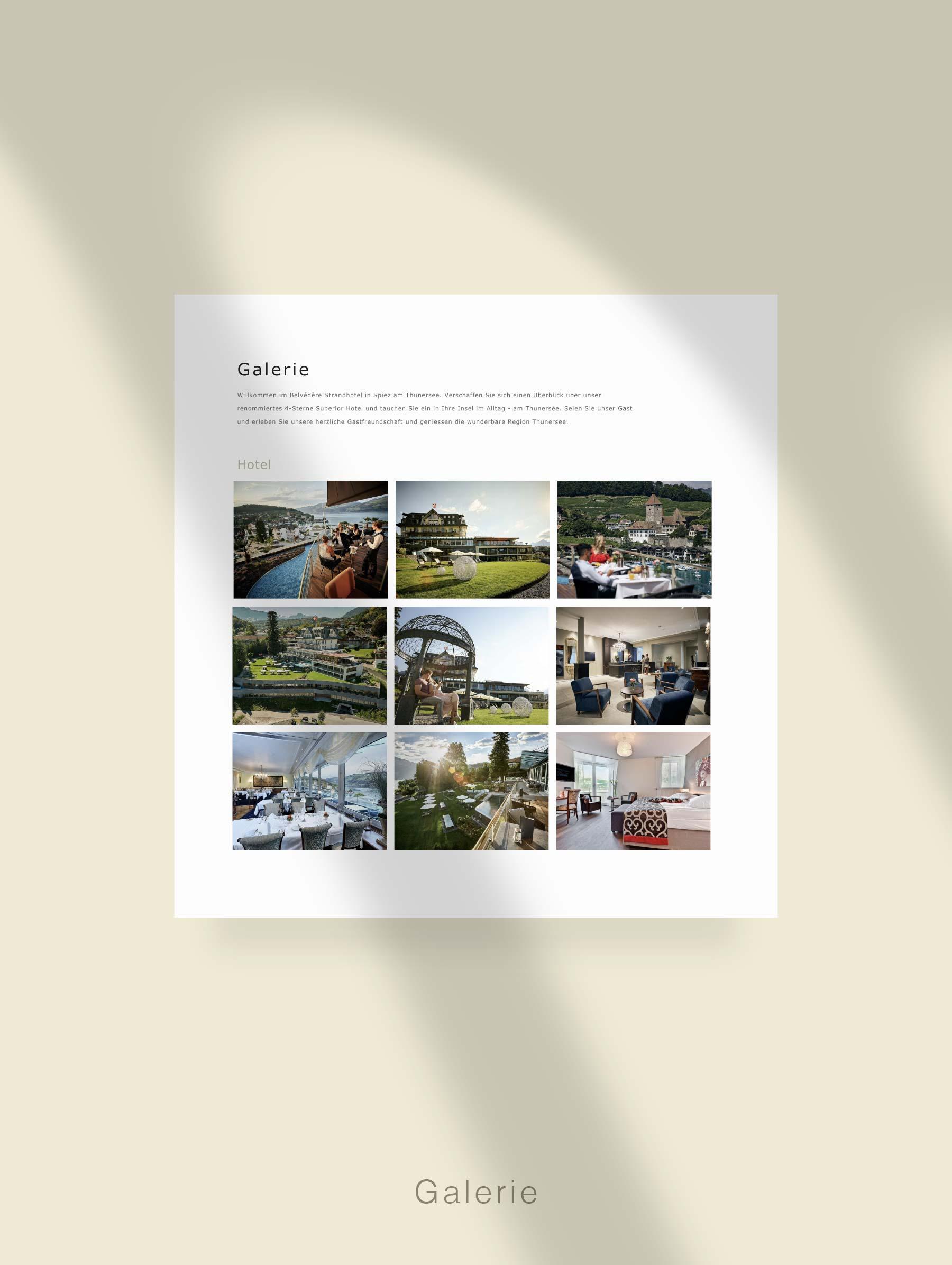 Modul Galerie - Entwicklung Webseite für Hotel Schweiz