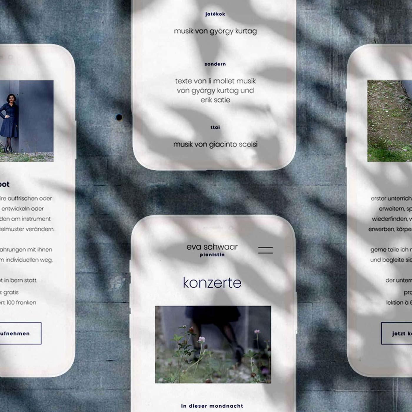 Webdesign Musikerin Schweiz