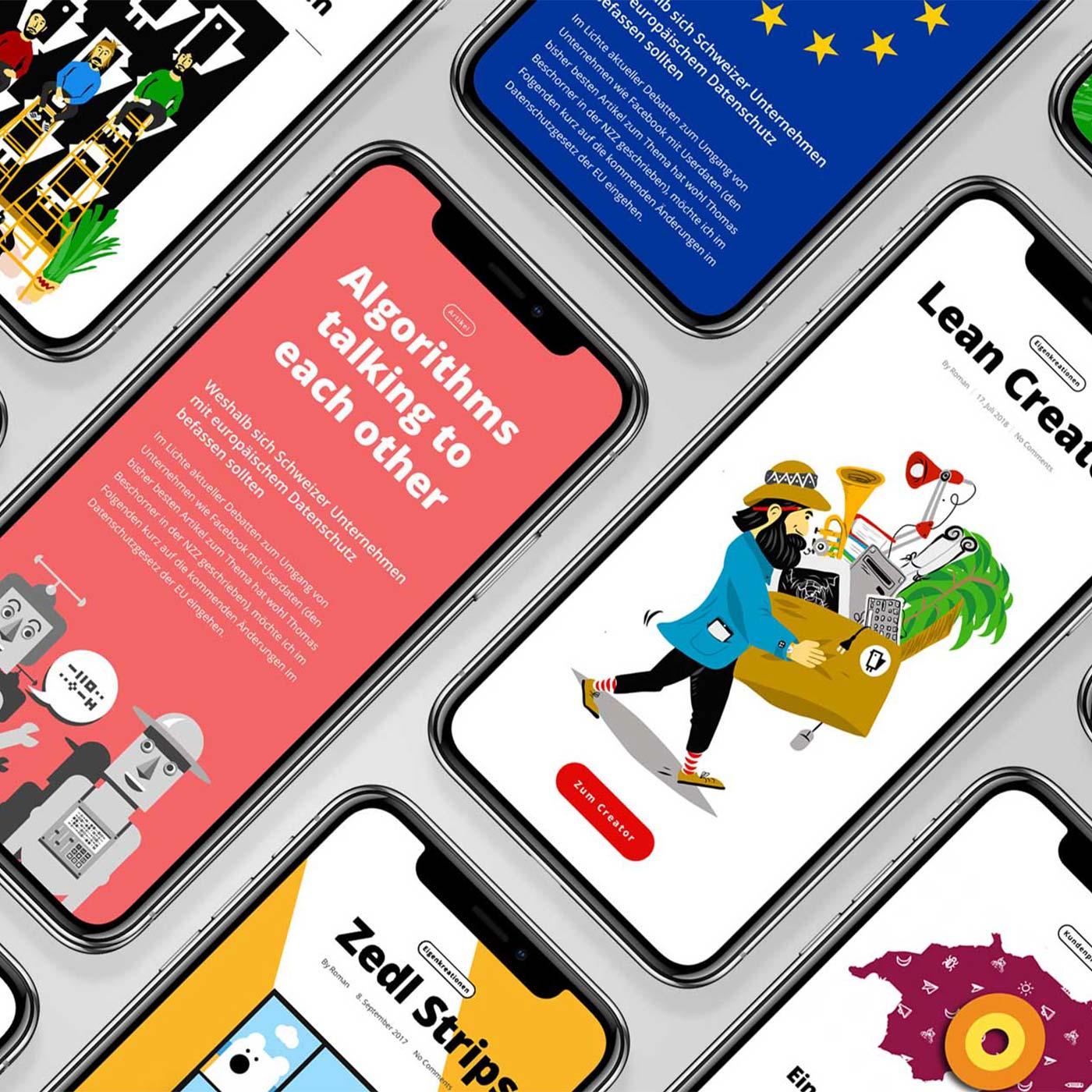 Illustrationen IT Firma Schweiz