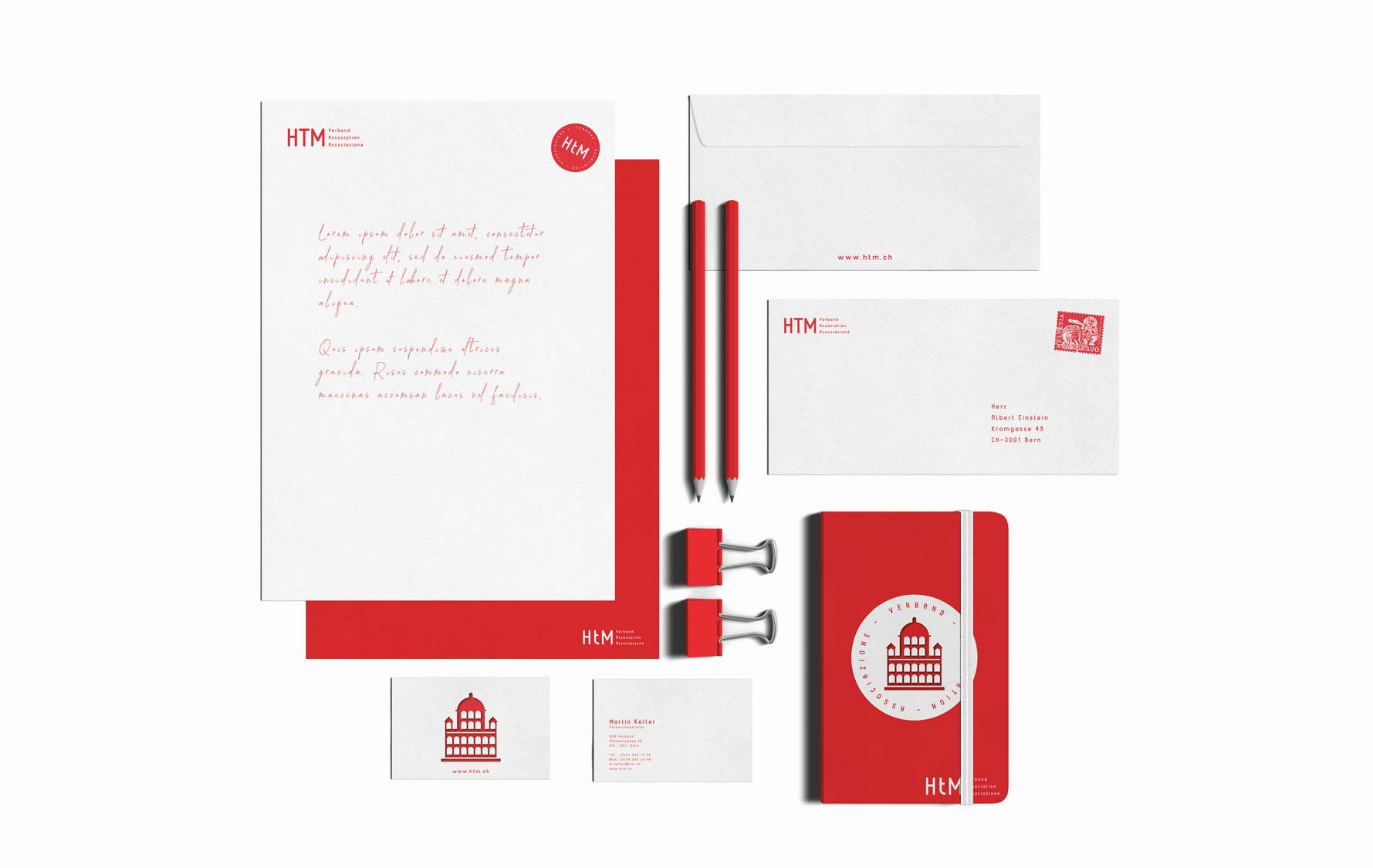 Design letterheads, letters, document templates for Swiss association