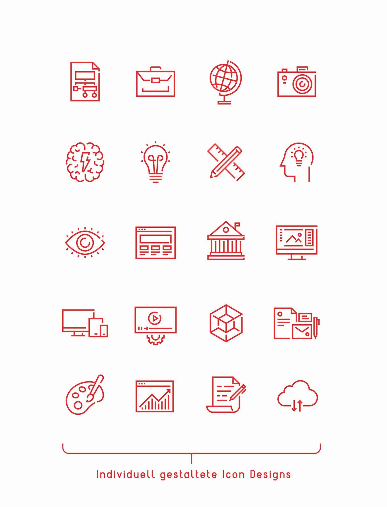 Icon Design Verbandsthemen Schweiz