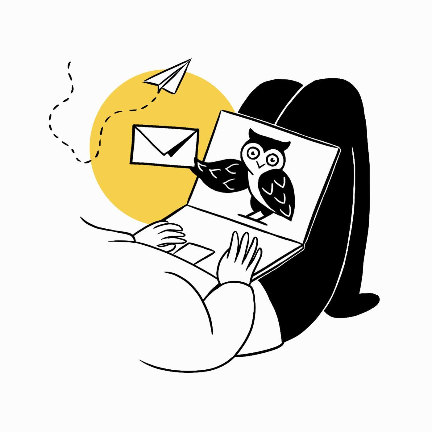Illustration für Newsletter Anmeldung von Namo Agentur für Branding & Webdesign in Bern