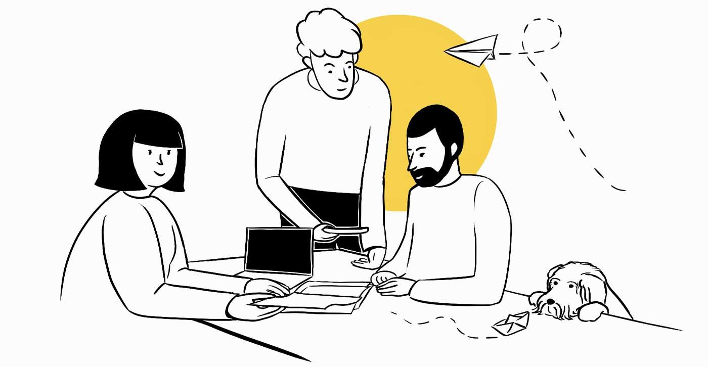 Illustration Agentur und Team - Namo Agentur für Branding und Webdesign in Bern