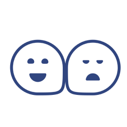 two blob faces