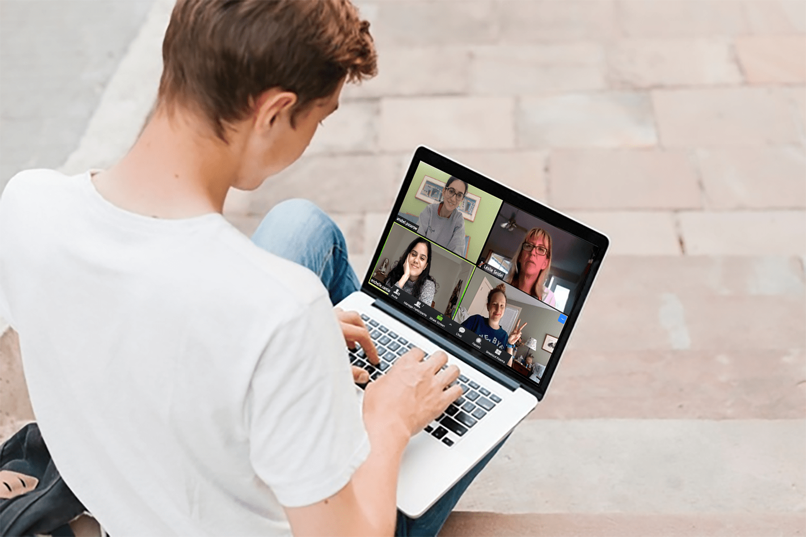 a group virtual therapy session
