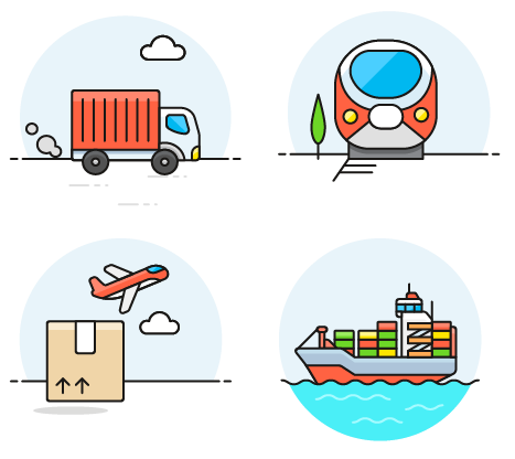 rules for air, ocean, road, and rail transport