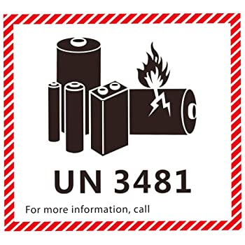 lithium battery caution label for shipping