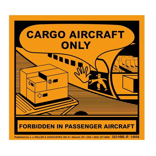 cargo aircraft only label for shipping