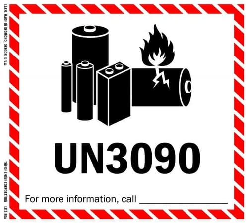 lithium metal caution shipping label