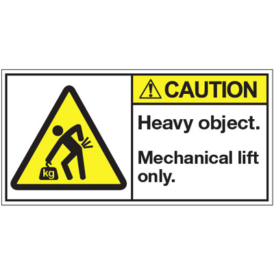 amazon fba caution sign mechanical lift