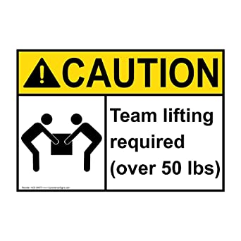 amazon fba caution sign team lift