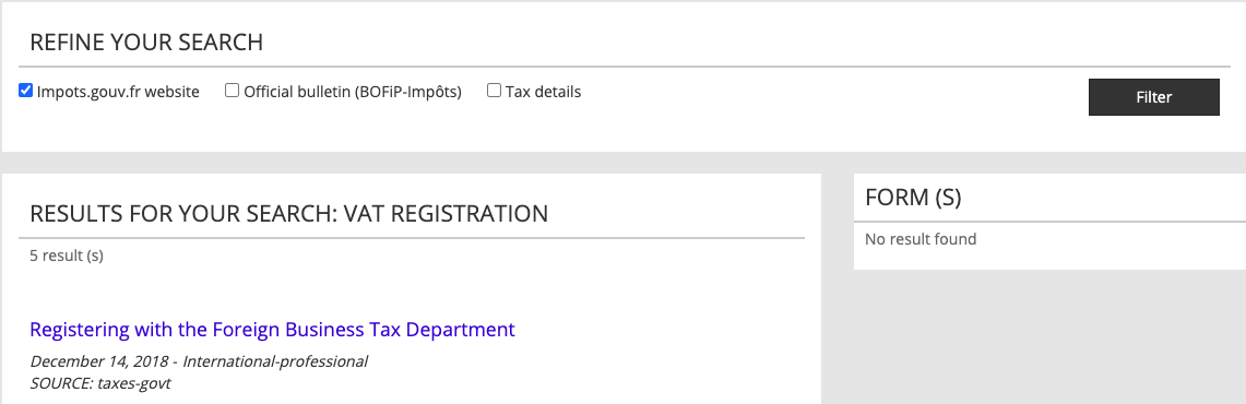Registering with Foreign Tax Department