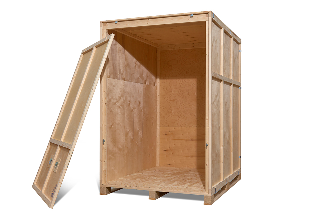 raw wooden crate for shipping