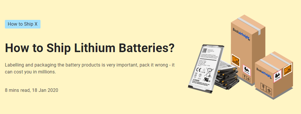 How to Ship Lithium Batteries?
