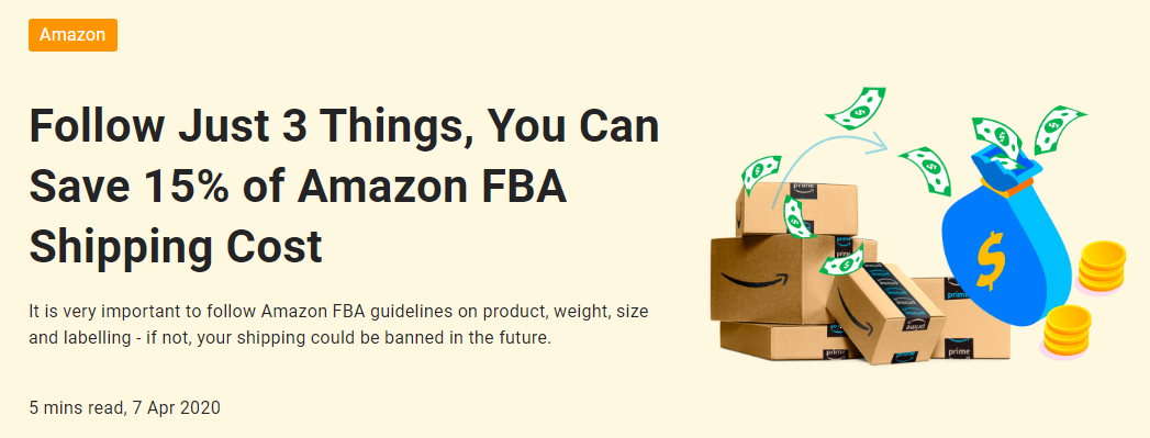 how to save FBA shipping cost