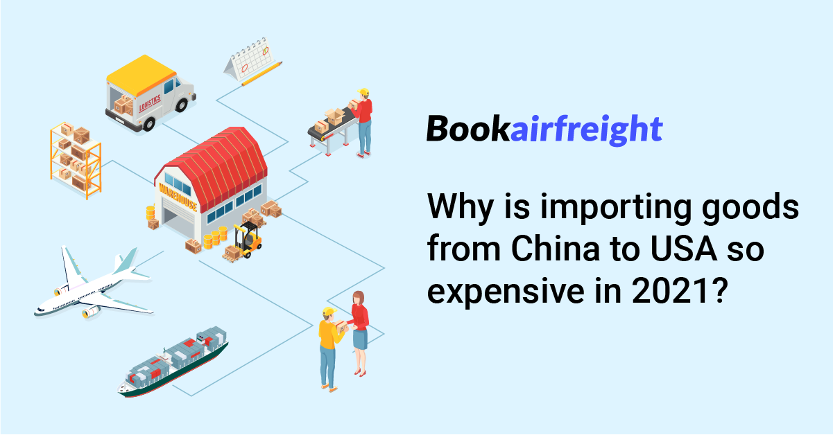Why is importing goods from China to USA so expensive in 2021