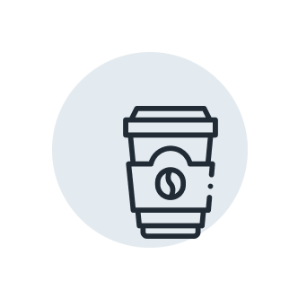 Icon of a coffee cup.