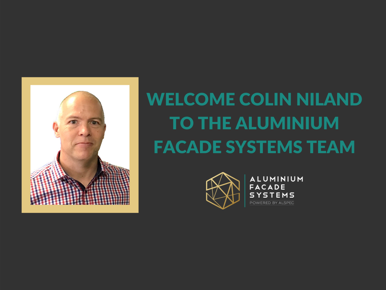 Welcome Colin Niland to the Team