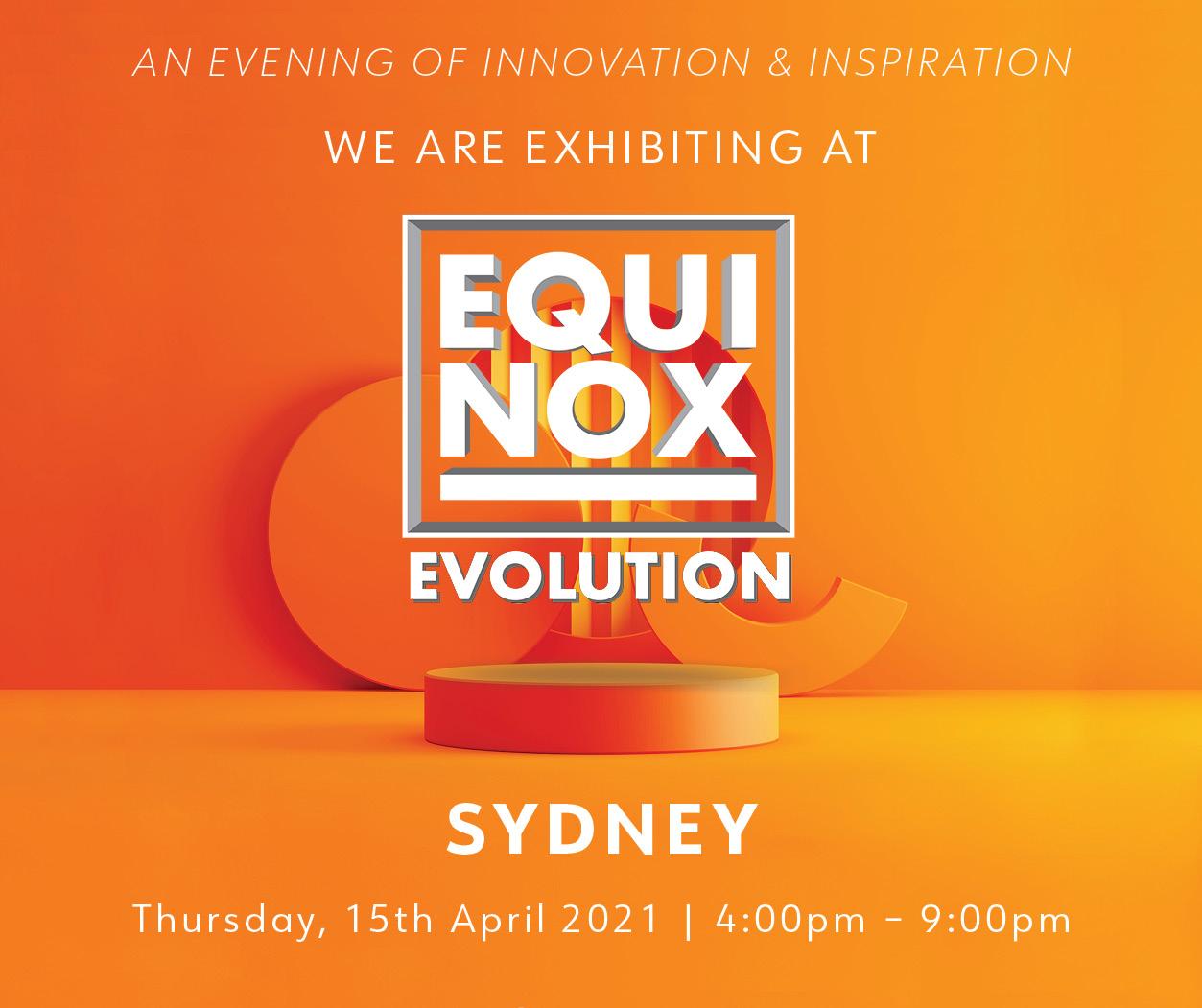 Aluminium Facade Systems to Exhibit at Equinox Evolution Sydney by Archify