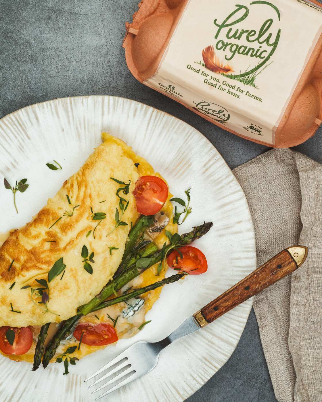 Gorgonzola Omelette with purely organic eggs pack