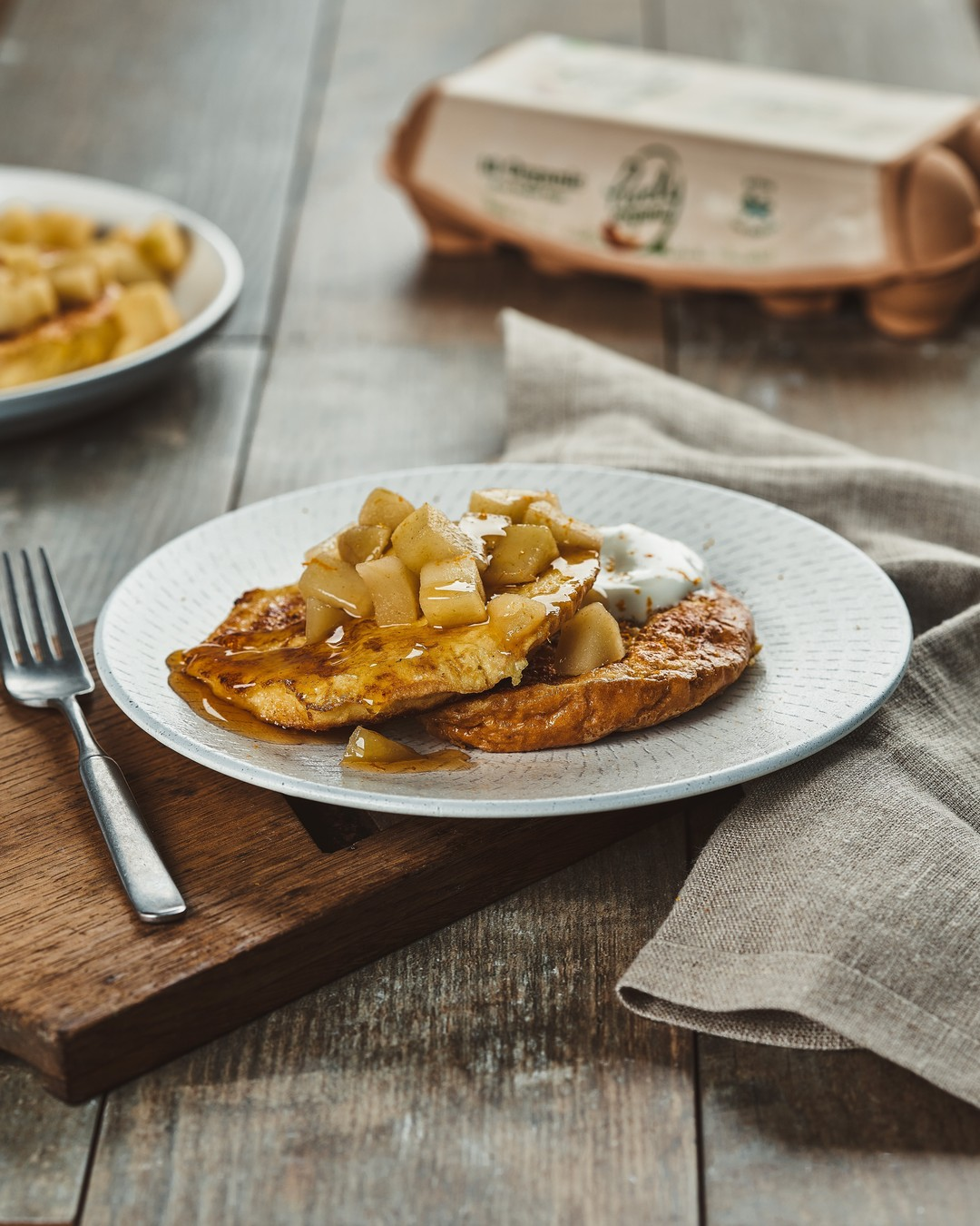 Add a little spice to your weekend breakfast with our spiced apple French toast recipe. (link in bio)