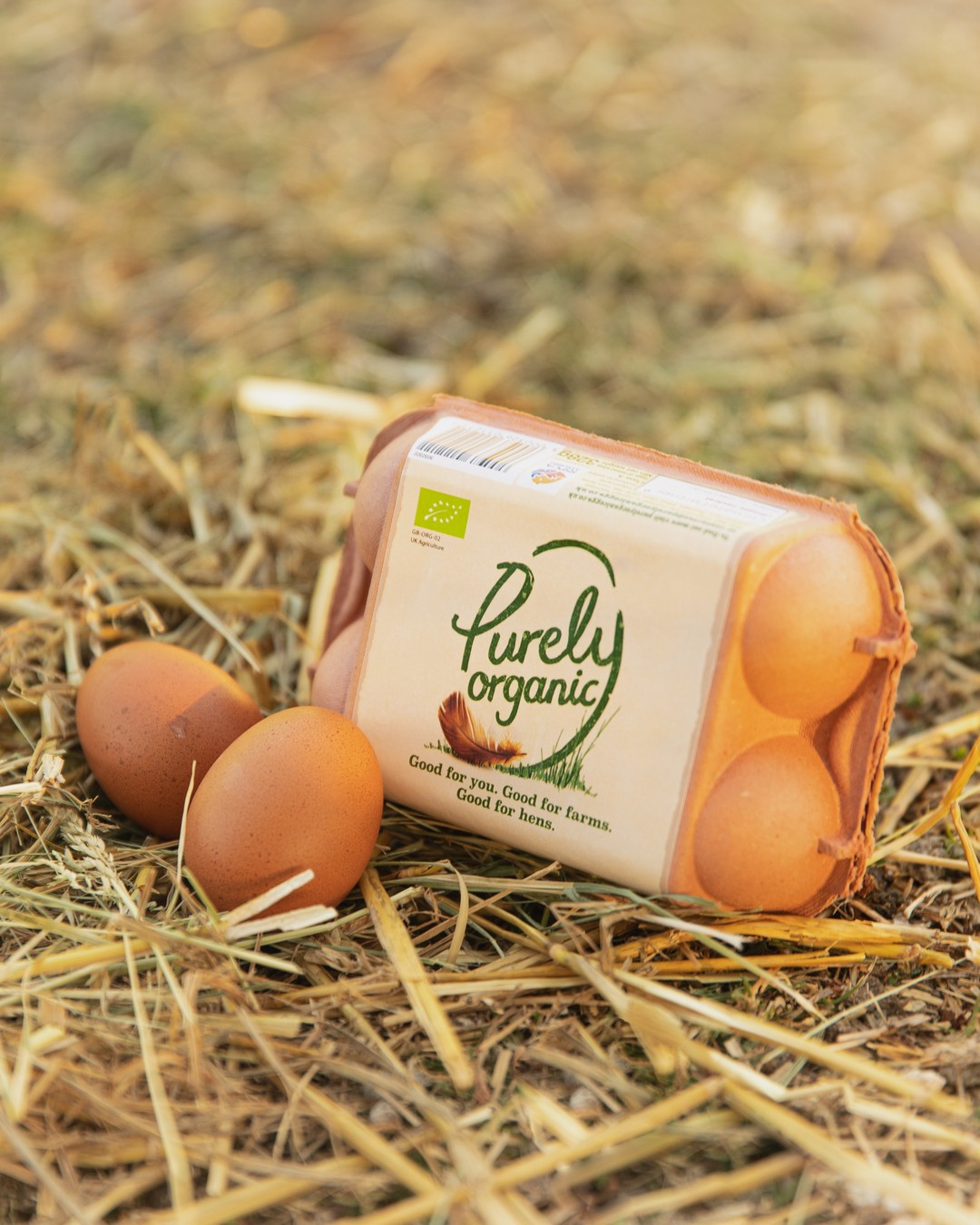 Good for you, Good for farms, Good for hens. Keeping things simple here at Purely Organic.