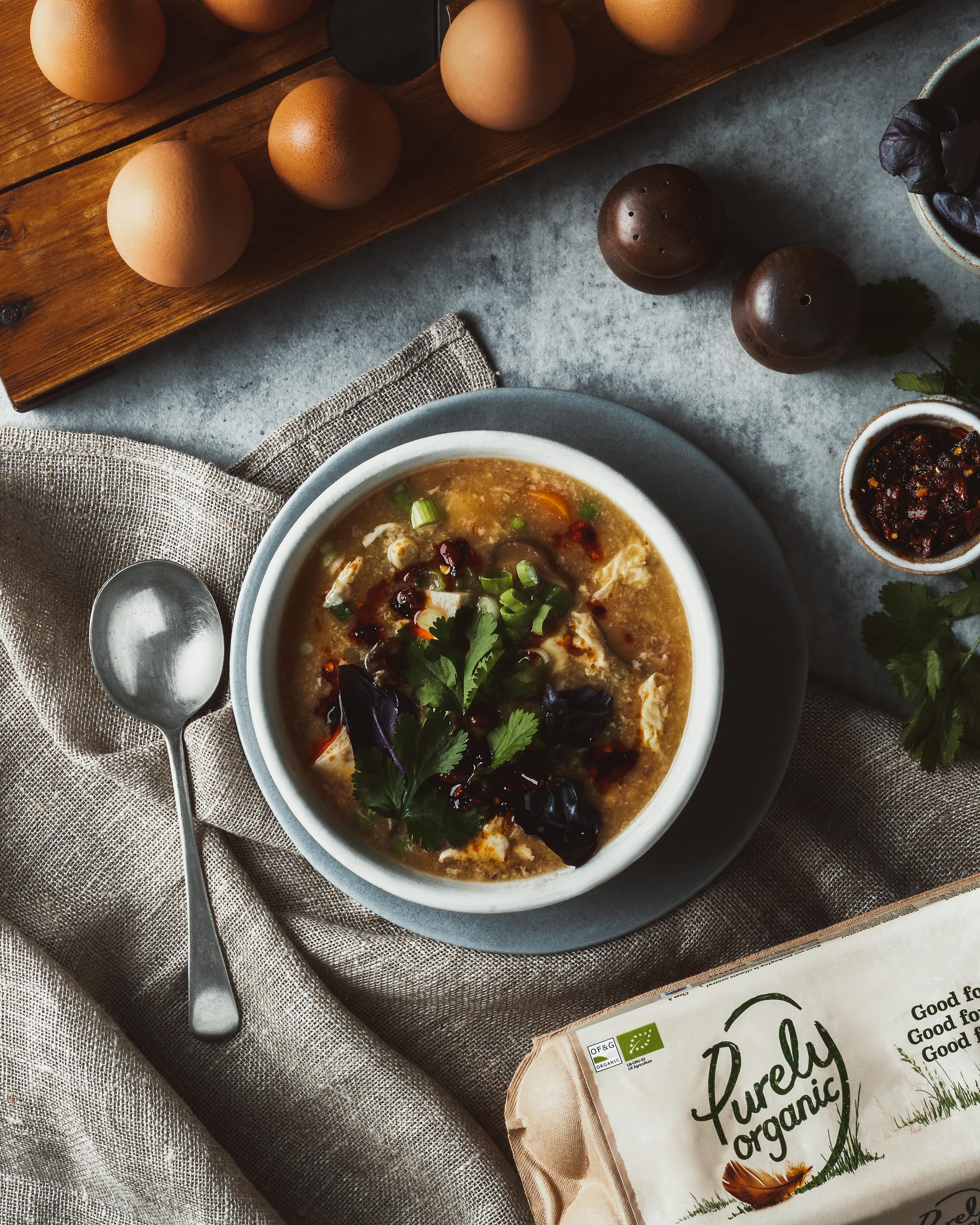 Egg Drop Hot & Sour Soup