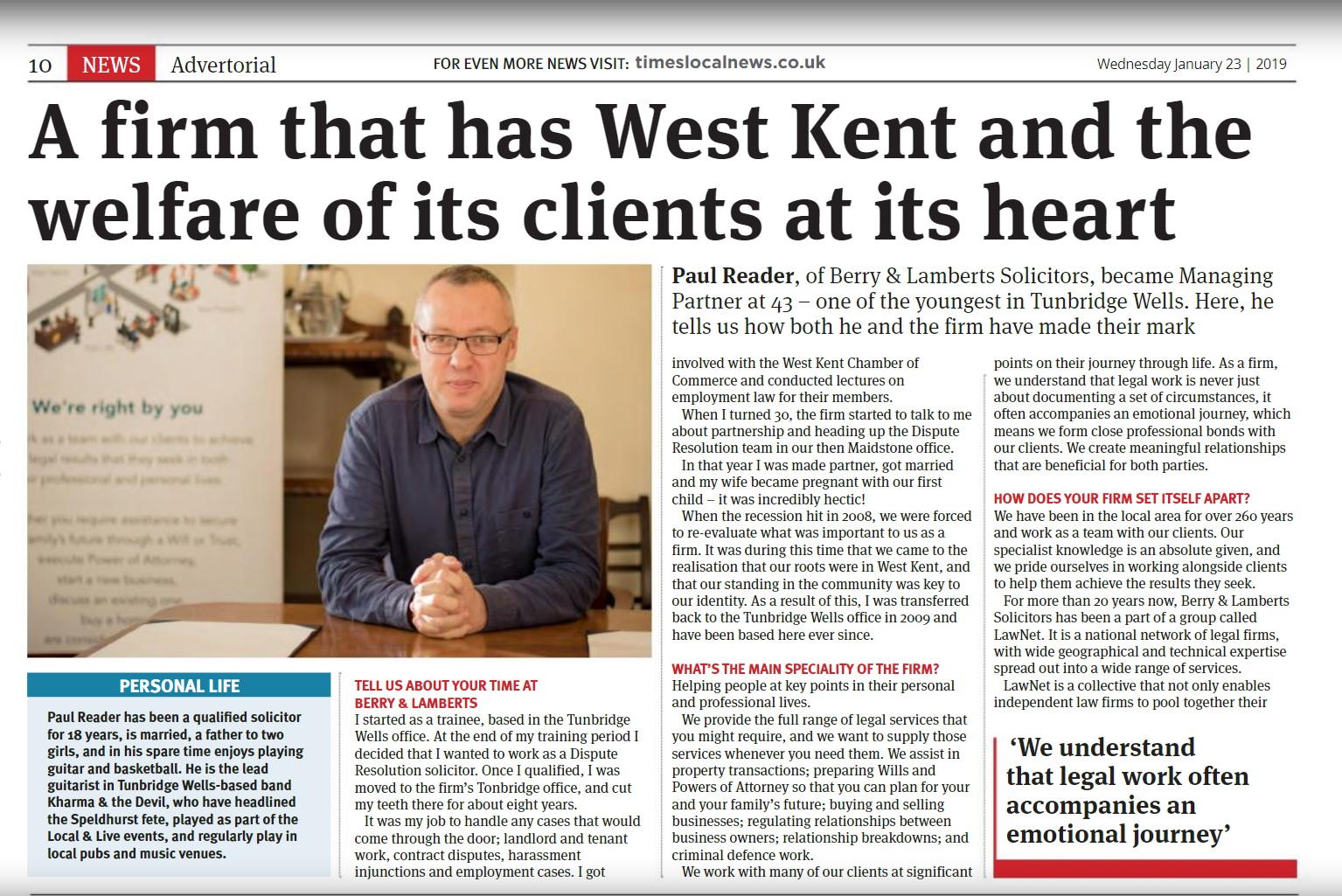 A firm that has West Kent at its heart