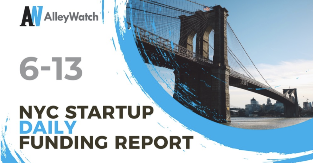 NYC startup daily funding report