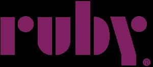 ruby logo in purple
