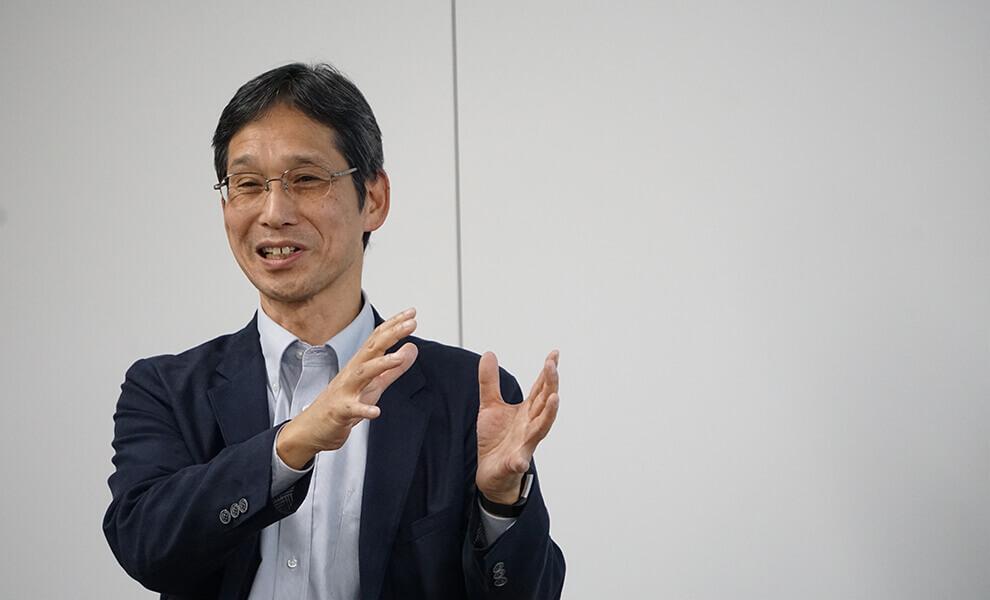 米田氏の講演風景