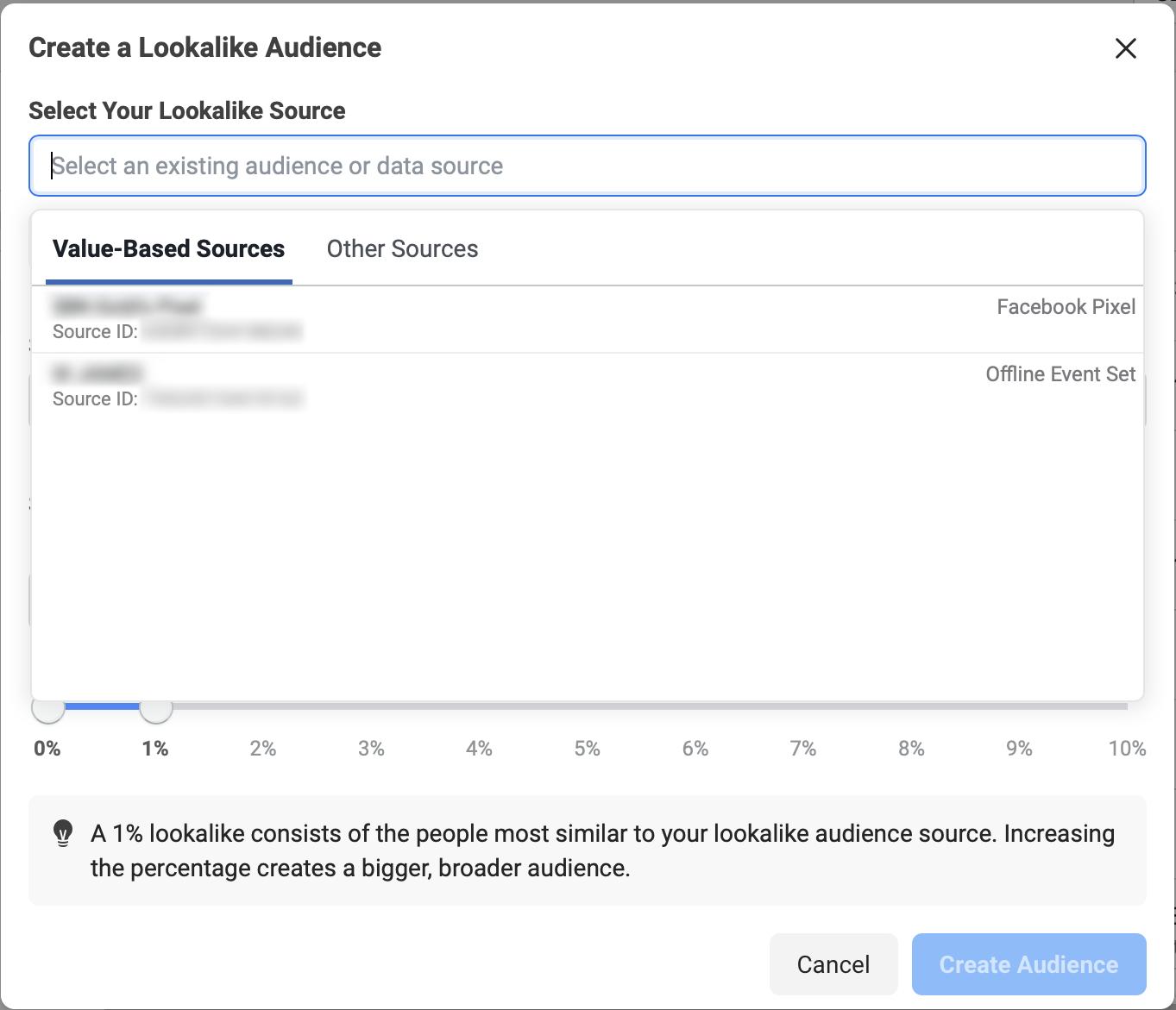 สร้าง Lookalike Audience