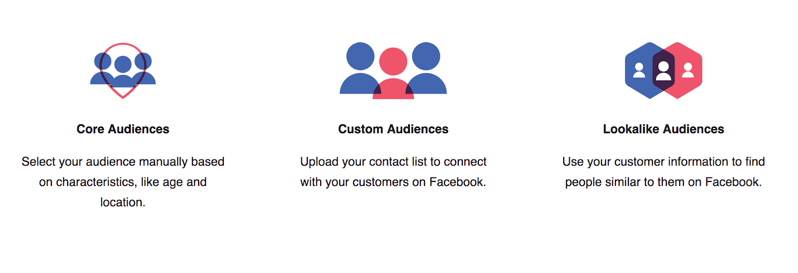 ประเภทของ Facebook Audience