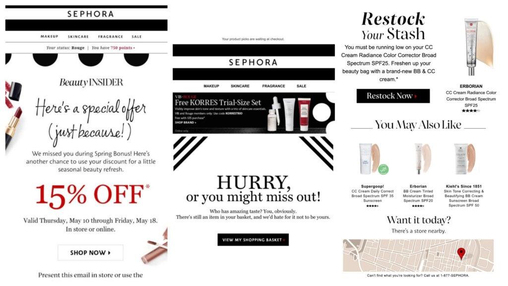 Sephora Personalization Email Marketing
