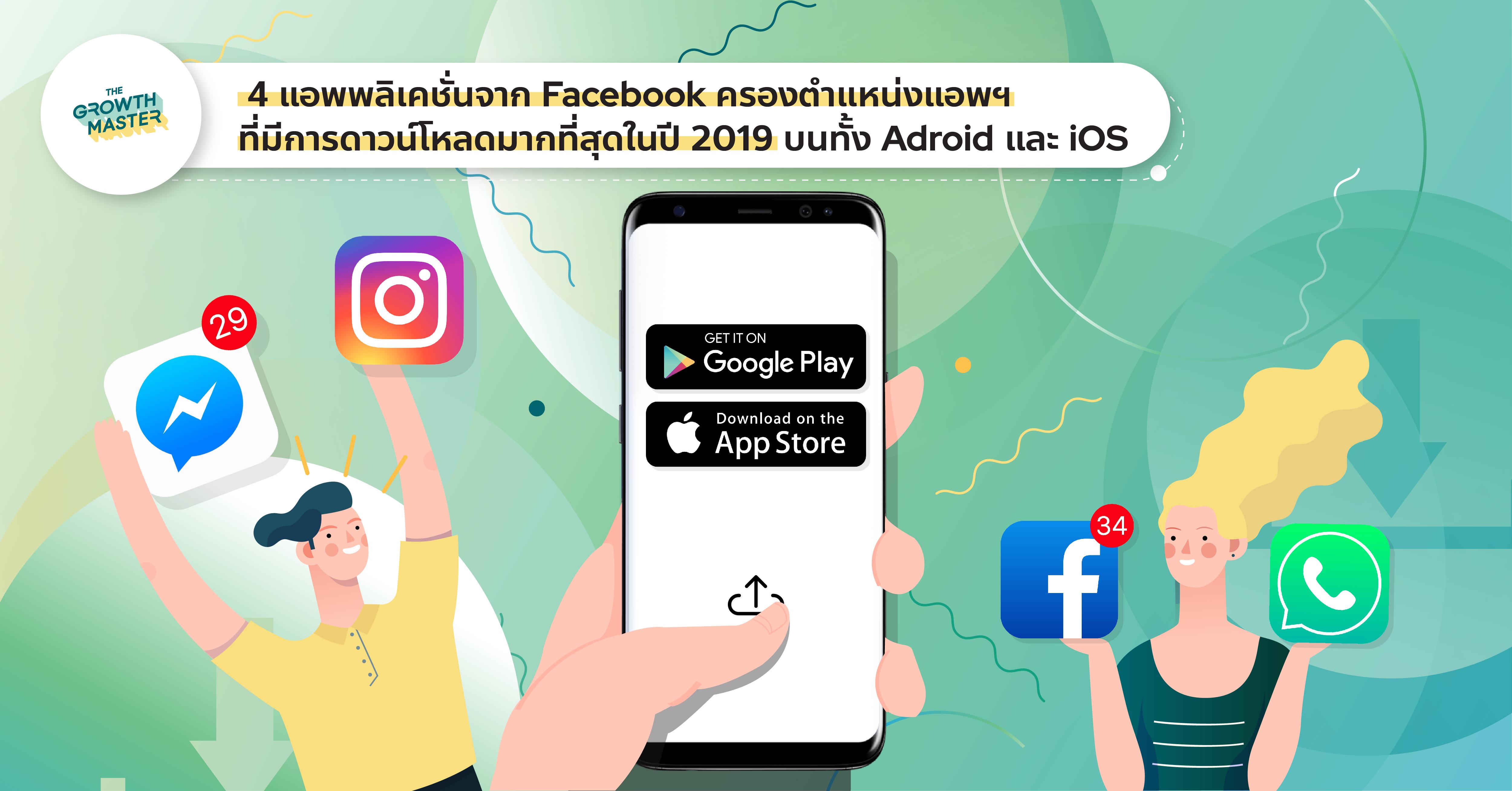 4 แอปพลิเคชันจาก Facebook โกยยอดดาวน์โหลดมากที่สุดในปี 2019