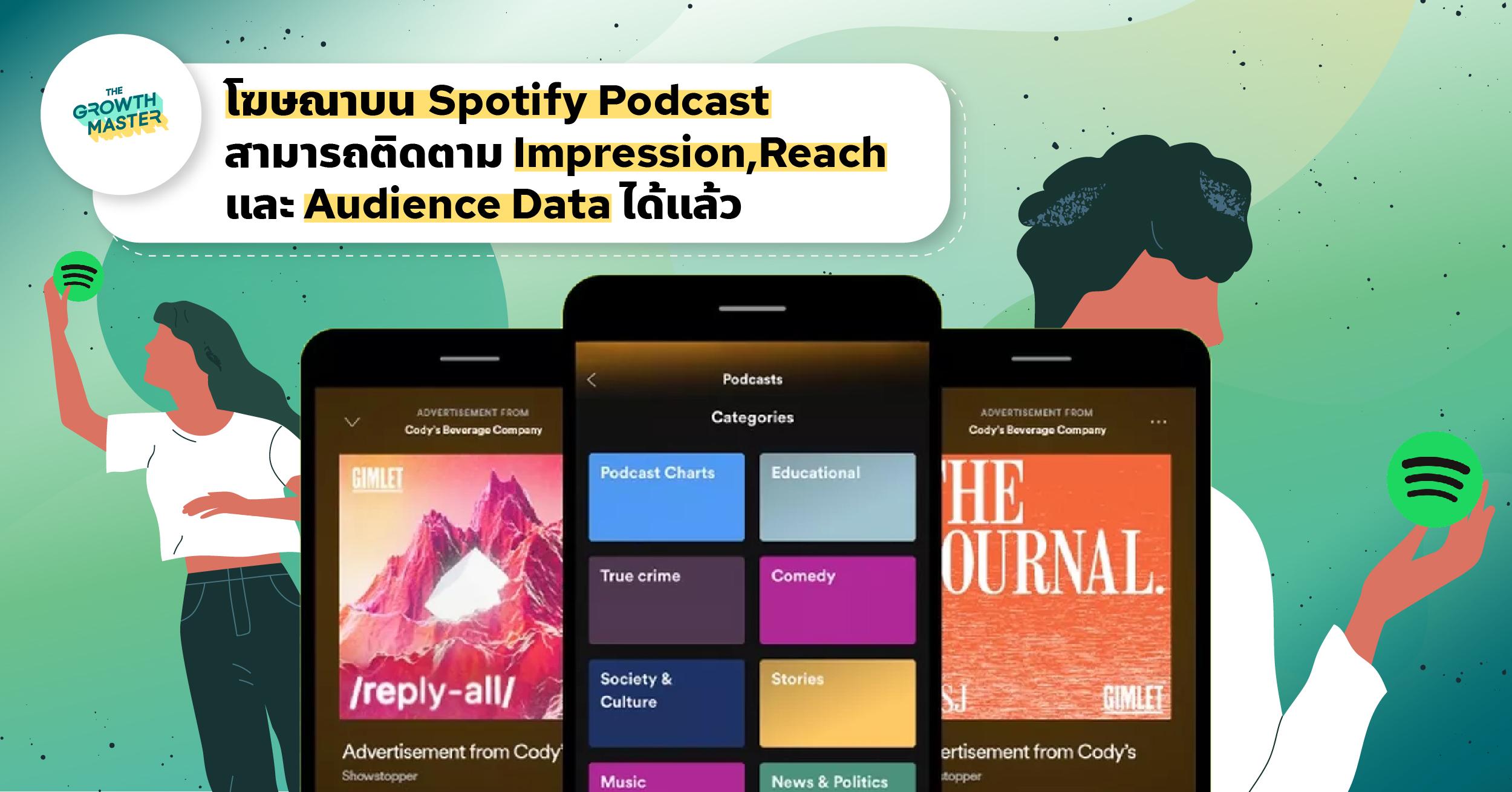 โฆษณาบน Spotify Podcast สามารถติดตาม Impression,Reach และ Audience Data ได้แล้ว