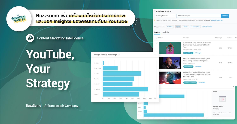 Youtube Analyzer เครื่องมือวัดประสิทธิภาพและบอก Insights ของคอนเทนต์ตัวใหม่จาก BuzzSumo