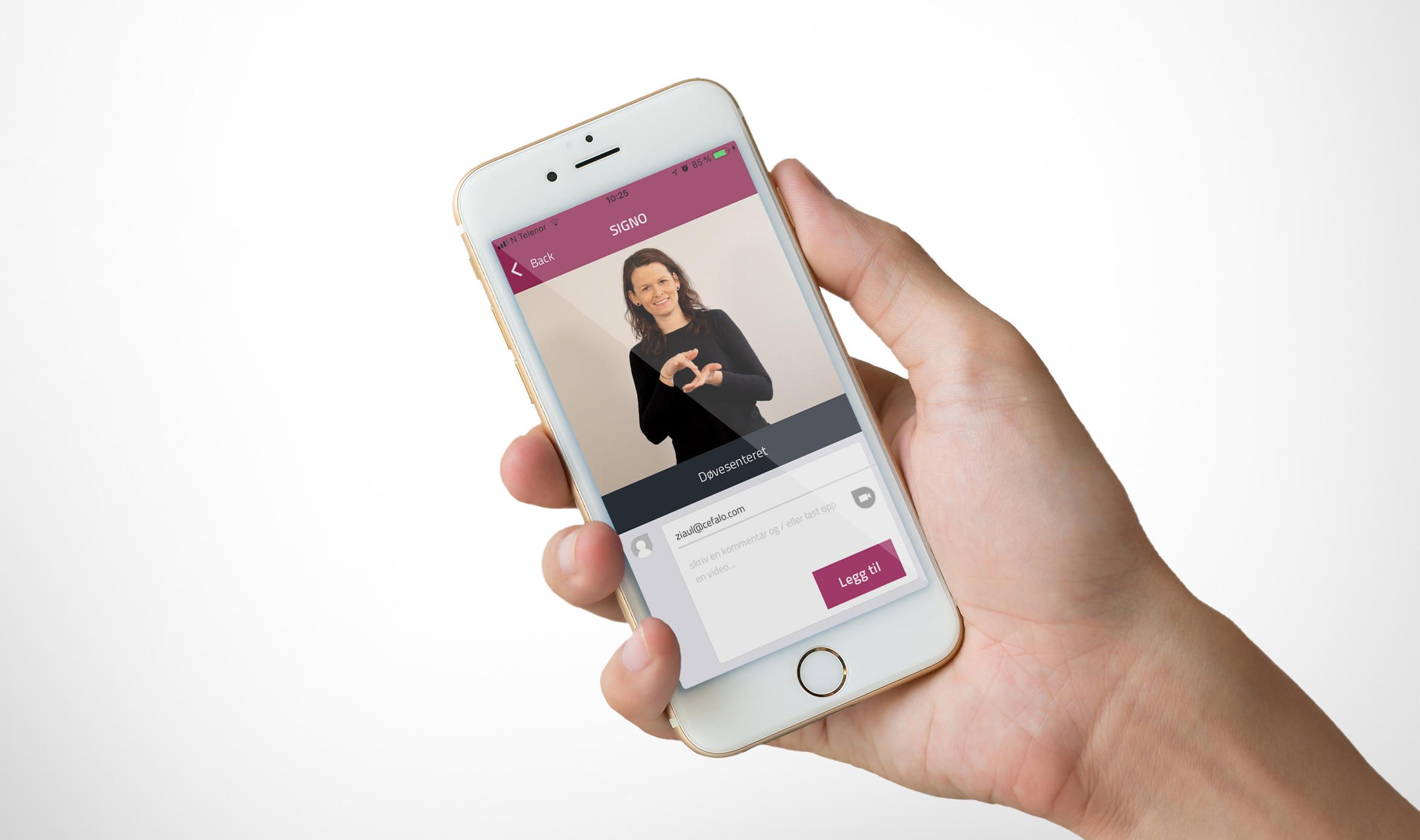 Tegnspråk-app