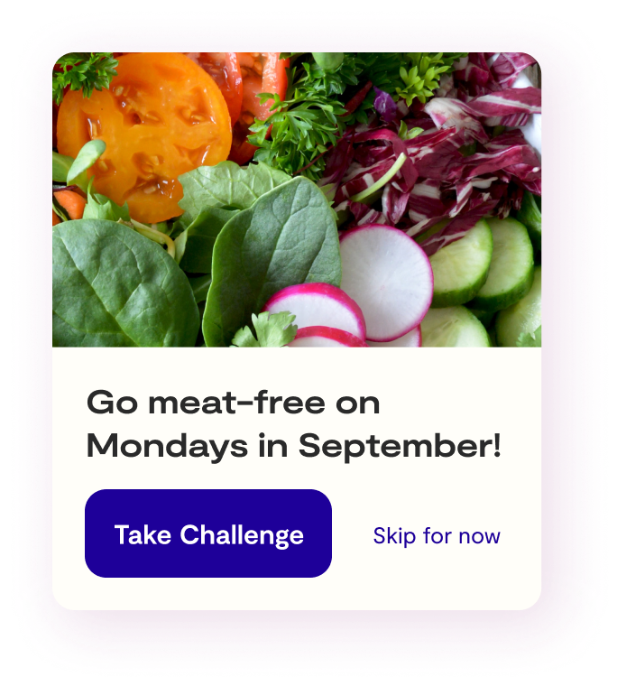 Go Meat-free on Mondays in September