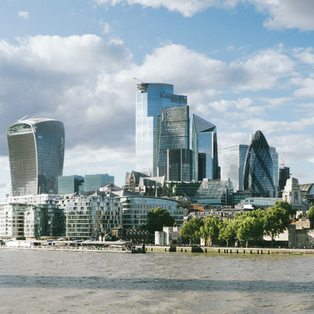 A view of the city of London Skyline