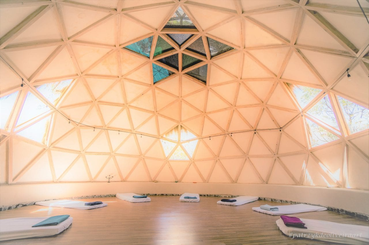 Meditation in a geodesic dome