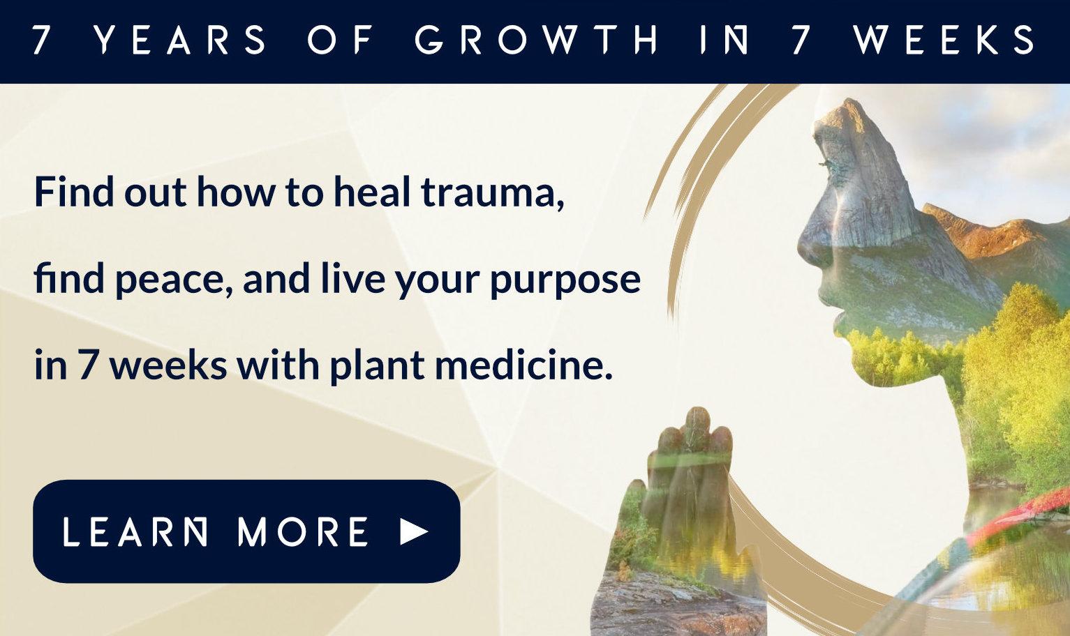 Webinar: 7 years growth in 7 weeks. Psychedelics, retreats, healing, transformation, purpose, ayahuasca, psilocybin, 5-MEO-DMT.