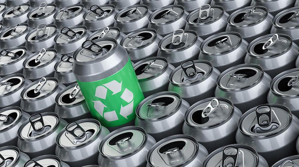 wiederverwerteter Aluminiumdosen