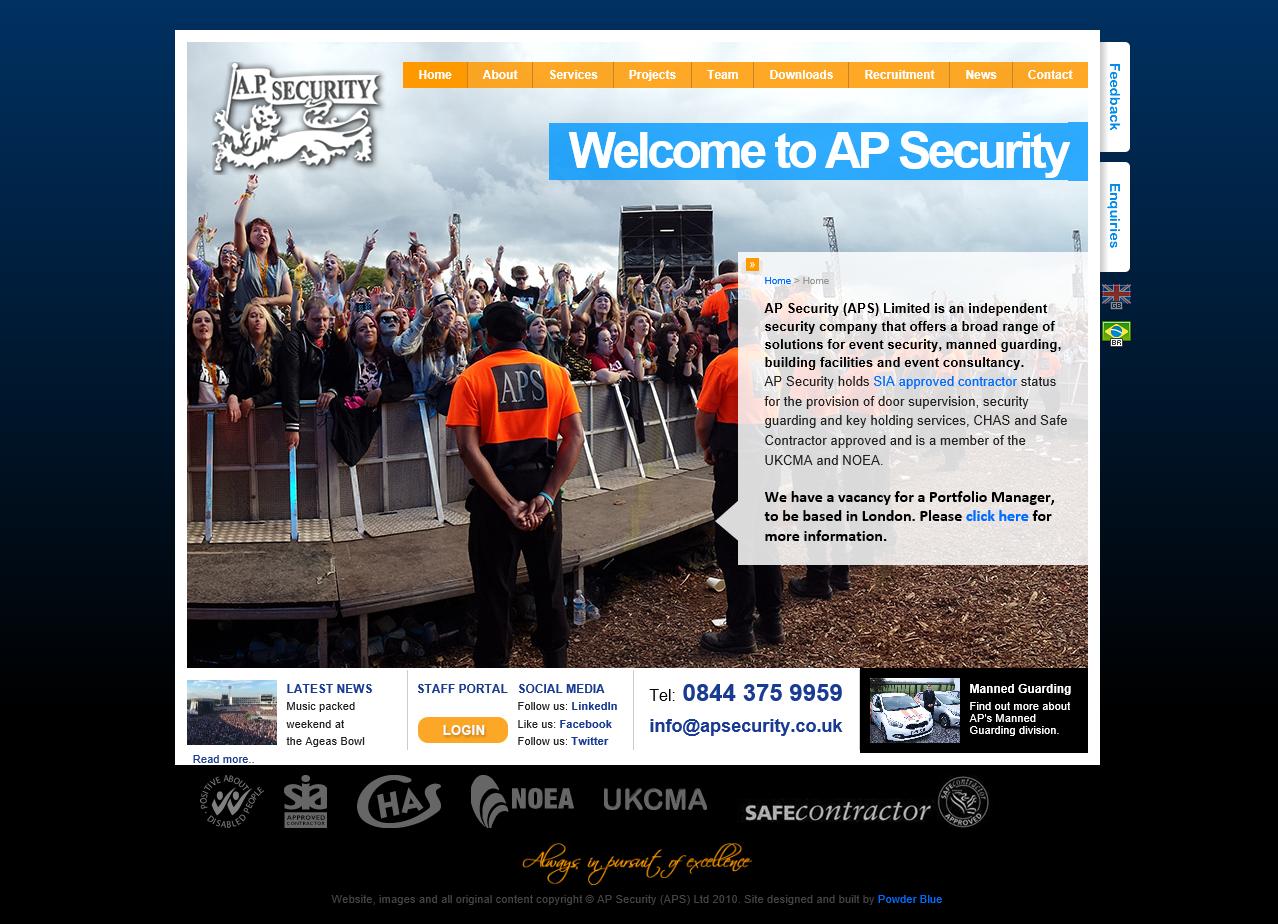 photo of ols AP security website