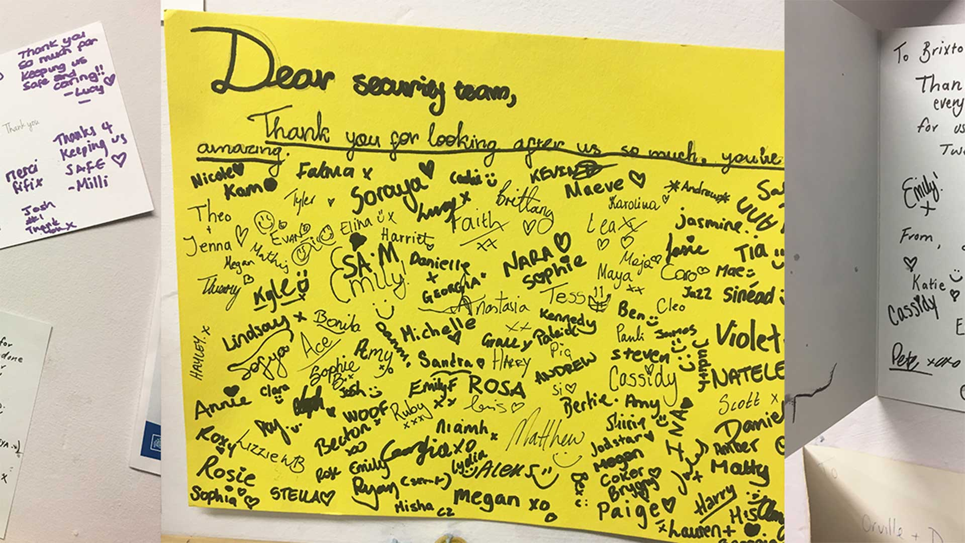 photo of thank-you card