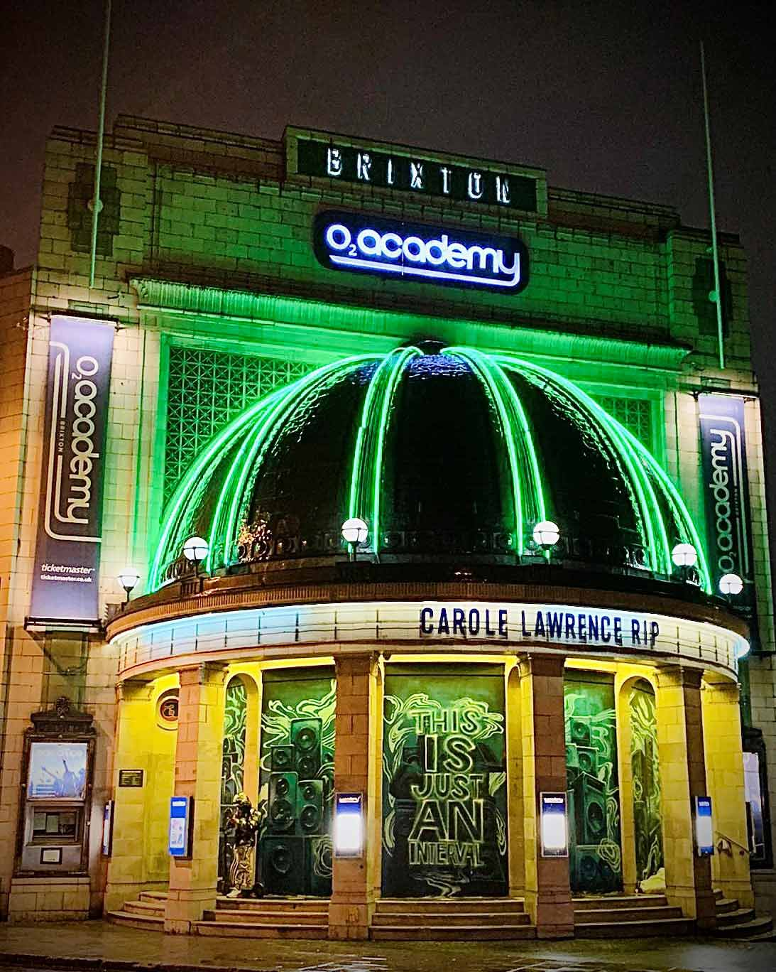 O2 Academy Brixton at night