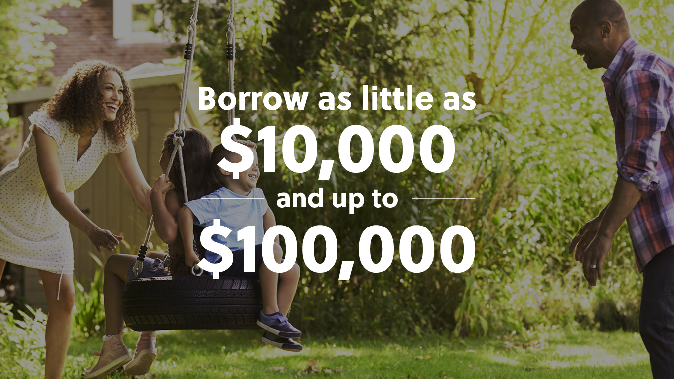 Borrow as little as $10,000.00 and up to $100,000.00
